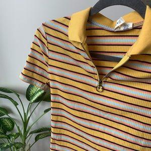 Multi - Color Zip-Up Shirt